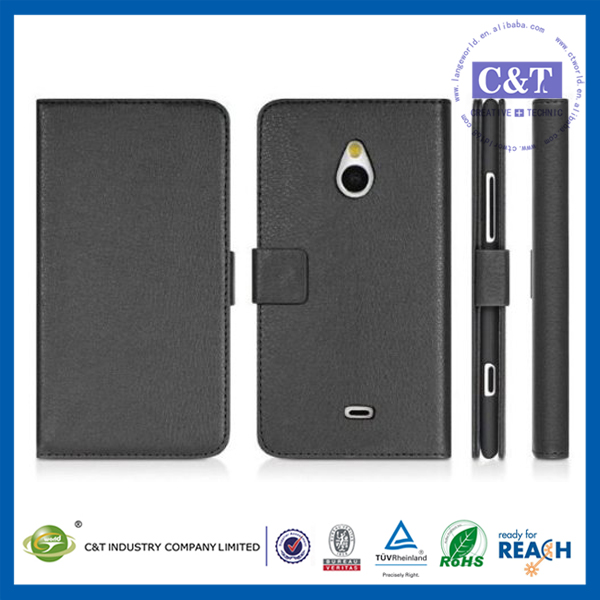 Hot Sale Multiple Colors pu leather wallet case cover for nokia lumia 720