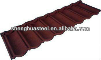High Quality Colored Stone Coated Steel Roof Shingle In Yiwu