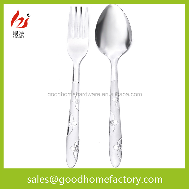 stainless steel dinnerware sets and cheap spoon fork set manufactuer metal spork flatware