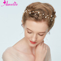 Charming Faux Pearl Headband Pearl Girls Headdress Bridal Baby's Breath Vine Wedding Party Prom Engagemen Headpiece Accessories