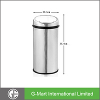 Great Earth 8 Gallon Polish/ Mirror/Matte/Fingerprint Proof Stainless Steel Electric Garbage Can, Sensor Kitchen Bin