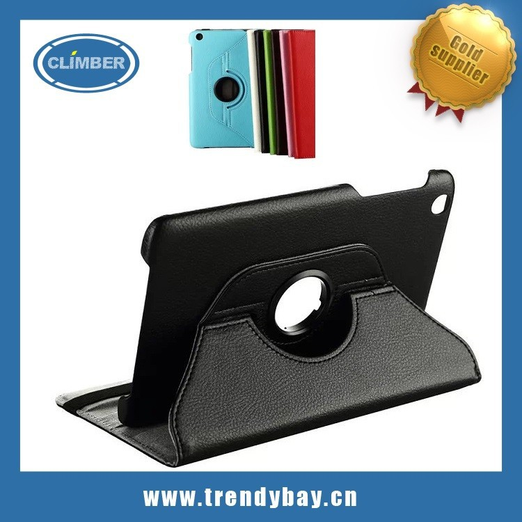 rotating lychee pattern leather cover case for lenovo a5500