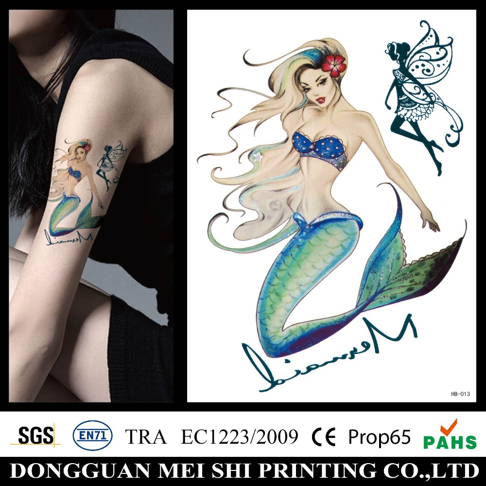 Custom water transfer sleeve temporary tattoo sticker
