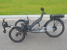 "26"" Fast Folding PSA Electric Battery Assisted Recumbent Tricycle"