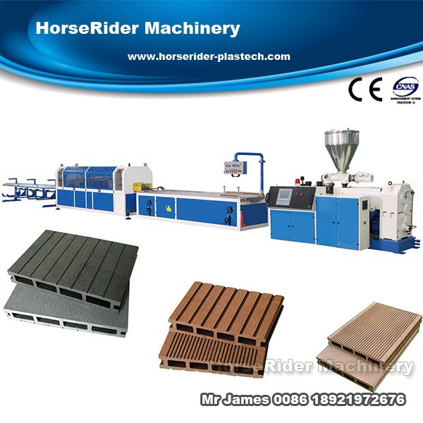 WPC Decking Panel Extrusion Machine/wpc profile making machine production line