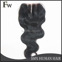 Import mongolian virgin hair raw unprocessed top quality virgin remy human hair extension 4x4 size 3 part closure