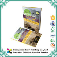 Guangzhou printing service hardcover colorful disc bound book