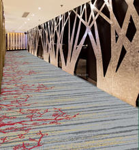 100% Nylon Floral Pattern Wall to Wall Corridor Carpet