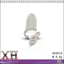 Guang zhou Wholesale 925 Sterling Silver Ring for Fingernail