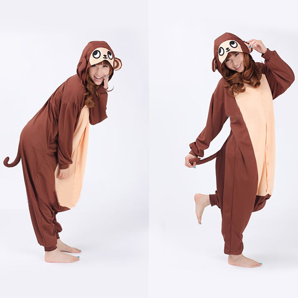get quotations free shipping unisex adult onesies pajamas animal cosplay onesie japan cute baboon monkey halloween animal costumes