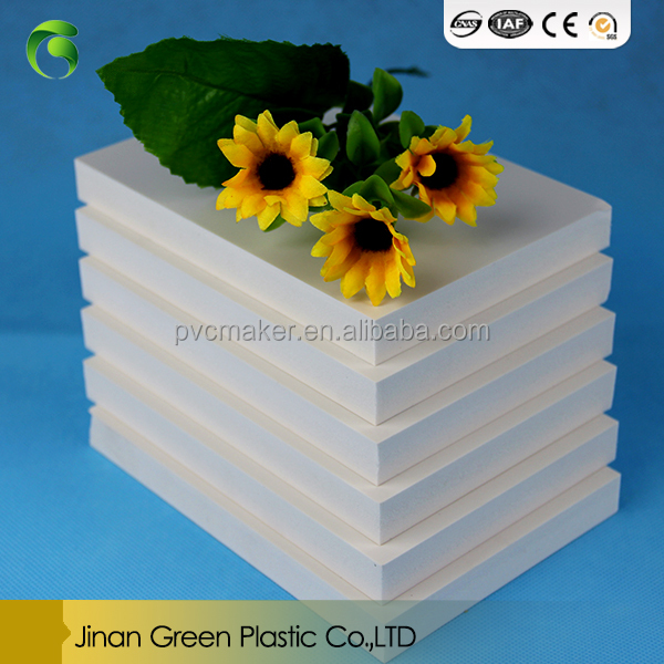 Green hot sale Plastic Building Materials pvc celuka foam board for construction 18mm 20mm 25mm 30mm