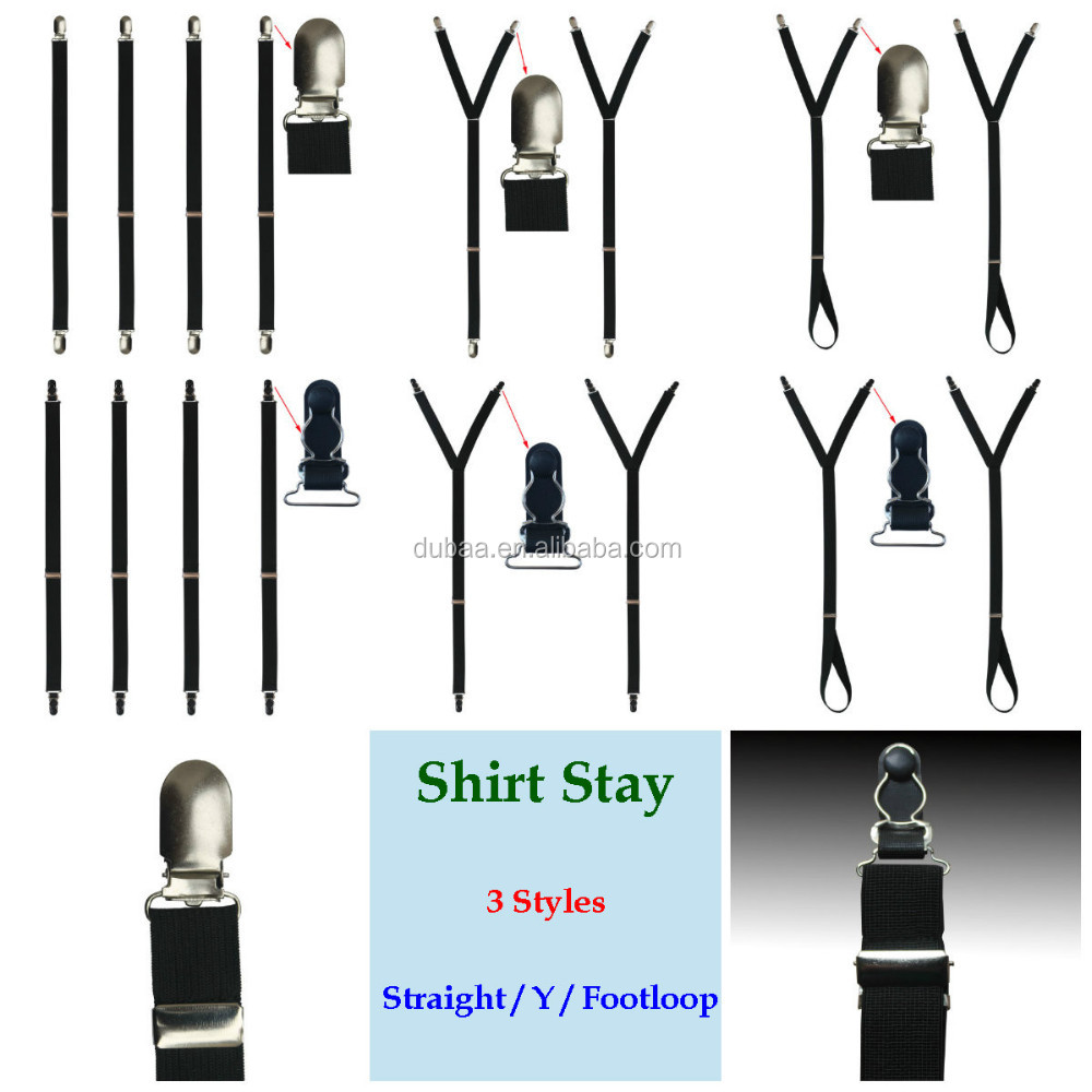 1 Pair or 4 Pcs Pack Straight Y Stirrup Footloop Style Military Police Unifrom Shirt Stay Shirt Garter Holder Keeper 2016