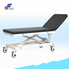 Remote control electric adjustable patient examination beds with artificial leather cover mattress