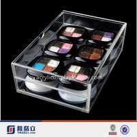 2016 Online Shopping new design! Customized Professional Clear Acrylic compact Organizer