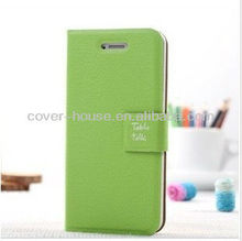 2012 cheapest wholesale flip leather case table talk case for iphone 5