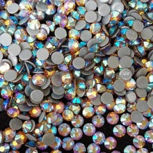 Ss20 AB 16 cut shiny hot fix platte achterkant strass voor ambacht, stenen decoratingf nagels, China TOP 6A kristallen fabriek
