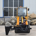 New hydrostatic 4 wheel drive small wheel loader manufacturers for sale