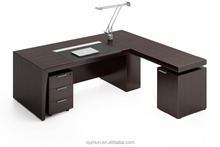 MDF luxury executive desk with return cabinet office furniture office desk made in China