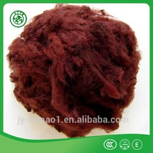 Black recycled PET/polyester staple fiber for automotive interior low shrinkage
