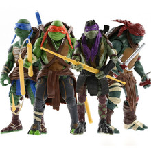 "New loose 4x Teenage Mutant Ninja Turtles TMNT Da Vinci/Raphael/Mikey/Donatello 5"" Toy Action figure"