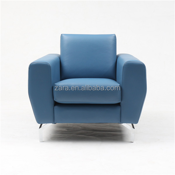 2015 New Model Modern Single Chair Sofa ,European Style Lazy Sofa In Living Room Furniture , Genuine Leather Sofa Chair