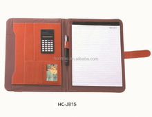 2014 HONTREE Factory price office Leather portfolio womens