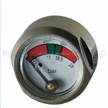 Hexagon Shape For Fire Extinguisher 3000psi 23mm Mini Tank Pressure Gauge