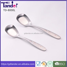 Tander colorful laser printing cutlery korean fork and spoon set baby spoon