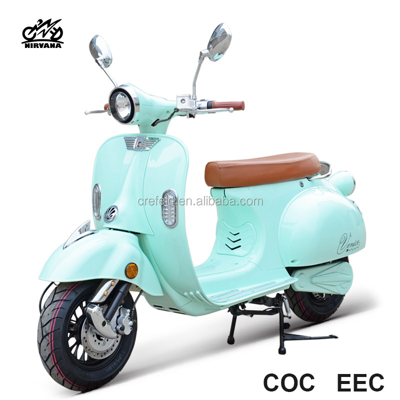 Adult Vespa S2 72v electric motorcycle motor citycoco 1200w popular motorbike with COC/EEC for EURO