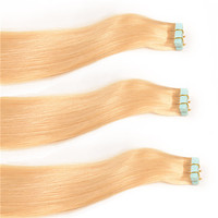 Whosale Virgin Brazilian Tape Human Hair Extensions,Human Tape Hair Blonde,Tape in Hair Extensions for African American