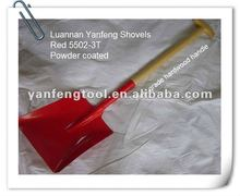 Spanish types of flat hand tool shovel with wooden handle