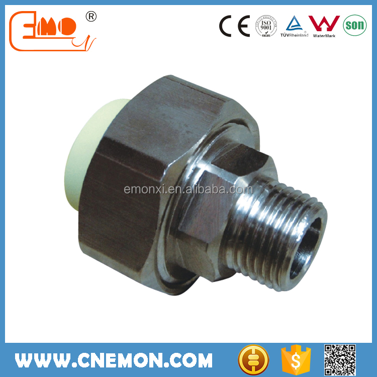 Promotional PPR water pipe fitting male union