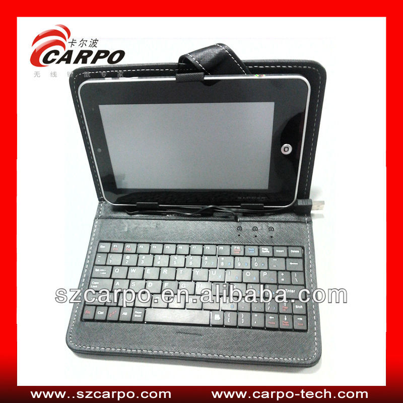 Hot Sale! Luxury Black PU Case Wireless Keyboard for iPad mini with tablet case