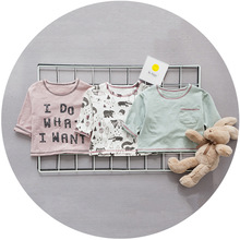 YF71276 autumn 2017 new style round neck T-shirt Korean baby t-shirt