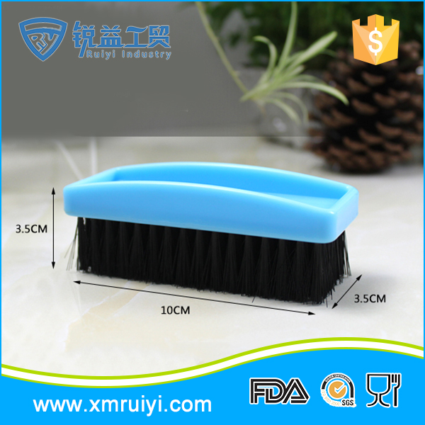 Factory manufacture colorful cheap handheld plastic shoe brush