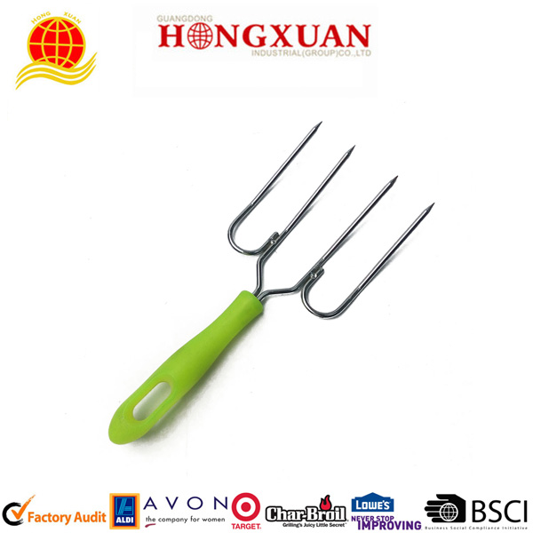 Popular Style PP Handle Stainless Steel Poultry Fork And Turkey Lifter