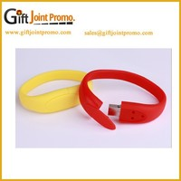 Promotional Silicon Wristband USB Flash Drive, Bracelet USB Memory Stick