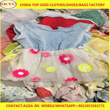 2018 China export high quality used clothing sorted second hand clothes mixed items in container for Africa importers