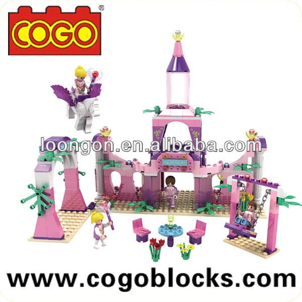 COGO Building Toys For Girls princess castle china toy factory