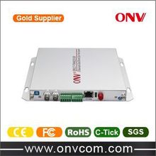 2 Channel analog video audio fiber optic transmitter receiver with 2CH Video+2CH Audio