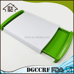Multificational Cutting Board Plastic Tray for Easy Waste Removal