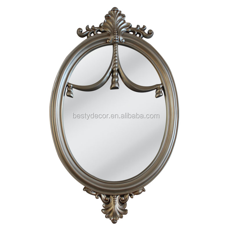 Superior unique design oval decorative PU mirror frame