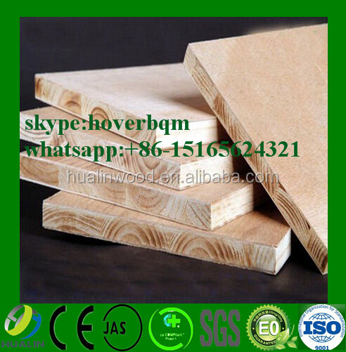 Laminated melamine covered blockboard ecological panel wooden face block board