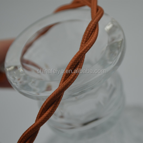 fabric cord/twisted braided electrical cord textile lighting lamp cable cloth power cord/pendant lamp