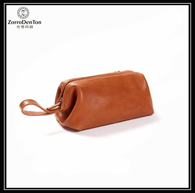 Italian Leather Mens Toiletry Bag For Travel Case Organizer