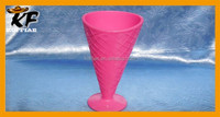 China factory promotion large plastic PP ice cream cone sundae cup