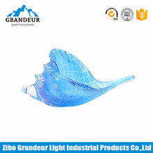 Murano Hand Made Blue Glass Conch For Home Decoration