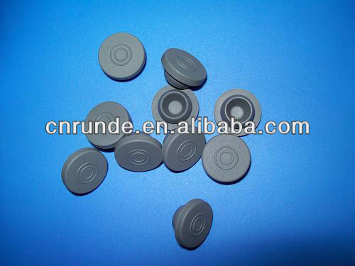 butyl rubber stopper for injectable medicine vials