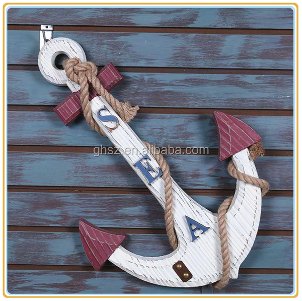 Custom wall decor resin boat anchor hook craft for sale