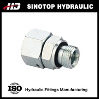 hydraulic male and female swivel joint fitting captive seal